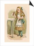 "Alice Holds the Bottle Which Says ""Drink Me"" on the Label Art by John Tenniel"