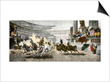 Chariot Race in the Circus Maximus of Ancient Rome Poster