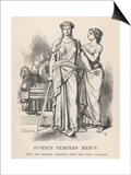"Henry VI, Justice Tempers Mercy ""Mercy But Murders Pardoning Those That Kill."", Shakespeare Print"