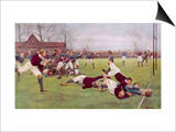 Rugby Try Scored 1897 Posters by Ernest Prater