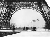 French Aviator Lieutenant Collot Successfully Flies His Biplane Beneath the Tour Eiffel Prints