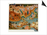 Marco Polo Leaves Venice Almost Certainly on His Second Trip in 1271 Prints
