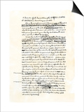 Draft of the Declaration of Independence in Jefferson's Handwriting, Page 1 Print