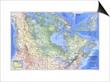1985 Canada Map Prints