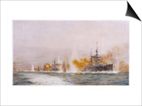 "Hms ""Lion"" Leads the Battle- Cruisers into the Fray at the Battle of Jutland Prints by William Lionel Wyllie"
