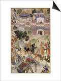 Mughal Emperor Akbar Enters Surat Gujerat after an Astonishingly Rapid 11-Day Campaign Prints by Farrukh Beg