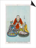 The Three Great Chinese Teachers of Spiritual Wisdom, Buddha Lao-Tzu and Confucius Poster