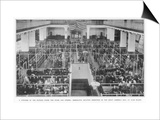 Immigrants Waiting Inspection in the Great Assembly Hall at Ellis Island New York Posters