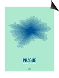 Prague Radiant Map 4 Posters by  NaxArt