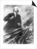 Lenin Making a Rousing Speech Posters