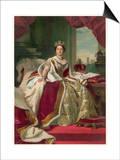 Queen Victoria Circa 1845 Poster by  Winterhalter