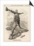 Cecil Rhodes Statesman Financier Imperialist. Caricatured as a Colossus Bestriding Africa Posters by Linley Sambourne