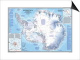 1987 Antarctica Map Prints