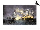 John Paul Jones's Ship, Bon Homme Richard, Defeating the British Serapis, c.1779 Prints