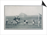 England V Scotland Goalmouth Action During Scotland's 2-1 Win at Bramall Lane Sheffield Prints