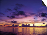 Sunset in the Cayman Islands Prints by Anne Flinn Powell
