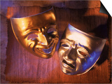 Two Theatre Masks (Comedy and Tragedy) Print by Ellen Kamp