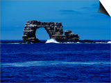 The Arch off Wolf Island, Galapagos Islands Print by Ernest Manewal
