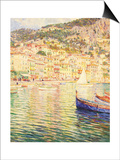 Villefranche on the French Riviera Print by Omer Coppens
