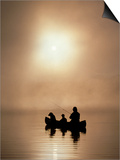 Silhouette of Father and Son Fishing Posters by Bob Winsett