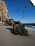 Rock Formations on the Beach, Point Dume State Beach, Point Dume, Malibu, Los Angeles County, Ca... Art