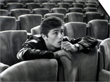 Alain Delon in a Movie Theatre Posters by Luc Fournol