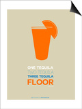 Orange Tequila Shot Prints by  NaxArt
