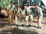Louis de Funes, Michel Galabru, Jean Lefevre and Christian Marin: Le Gendarme de Saint-Tropez, 1964 Poster by Marcel Dole