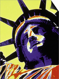 Abstract of Statue of Liberty, NYC Posters by Whitney & Irma Sevin