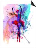 Ballerina's Dance Watercolor 3 Láminas por Irina March
