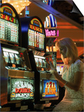 Gaming in a Casino, Las Vegas, NV Posters by Lonnie Duka