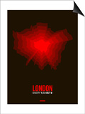 London Radiant Map 2 Posters by  NaxArt