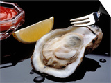 Oyster on Halfshell with Lemon and Sauce Prints by Ken Glaser