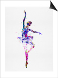 Ballerina Dancing Watercolor 2 Pósters por Irina March