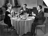 Jean-Paul Belmondo, Paul Meurisse and Dany Robin: La Francaise et L'Amour, 1960 Print by  Limot