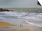 Bunmahon Strand, the Copper Coast, County Waterford, Ireland Prints