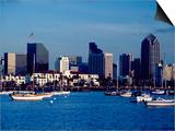 Skyline and Boats, San Diego, CA Art by Inga Spence