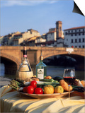 Tuscany Food and Wine, Florence, Italy Posters by Frank Chmura