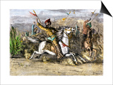 Genghis Khan Leading the Mongols Prints