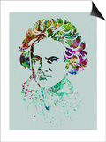 Beethoven Watercolor Prints by Anna Malkin