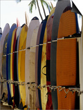 Surfboards, Waikiki Beach Oahu, Hawaii Prints by Mark Polott