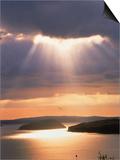 Sunrise Over Bar Harbor, Cadillac Mountain, ME Kunst von Elizabeth DeLaney