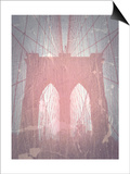 Brooklyn Bridge Red Posters by  NaxArt