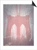Brooklyn Bridge Red Posters by  NaxArt