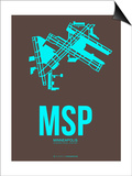 Msp Minneapolis Poster 1 Posters by  NaxArt