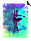 Ballerina Watercolor 4 Posters van Irina March