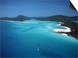 Whitehaven Beach, Queensland, Australia Posters by David Ball