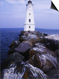 Ashland Breakwater Lighthouse, WI Poster by Ken Wardius