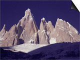 Cerro Torre (3128M) and Torre Egger Peaks, Patagonia, Argentina Posters by Leo & Mandy Dickinson