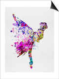 Ballerina on Stage Watercolor 3 Poster van Irina March